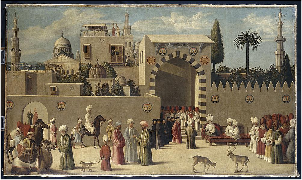 Réception d'une ambassade vénitienne à Damas sous les Mamelouks, Venise, vers 1511, musée du Louvre IMA