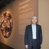Le collectionneur Claude Lemand, vernissage de l'exposition Mémoires partagées, 17.09.2020 © Alice Sidoli / IMA