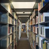 La bibliothèque de l'Institut du monde arabe. © Thierry Rambaud / IMA
