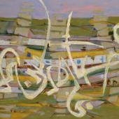 Khadda, Sahel sous le vent, 1989. Huile sur toile, 89 x 116 cm