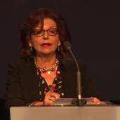 Faouzia Charfi à l'Institut du monde arabe, 1er juin 2017. D.R.