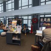 A la bibliothèque de l'IMA © Thierry Rambaud / IMA