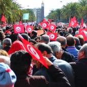 Tunis, janvier 2012. © Amine Ghrabi