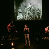 """Répétition à l'IMA de """"Annette, De mare a hija"""" par le groupe Yaïa. D.R."""