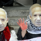 Manifestants opposés à la politique de Benjamin Netanyahou © Stephen Melkiethian