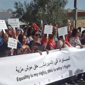 Marche pour l'égalité dans l'héritage au Bardo. Tunis 10 mars 2018 © Omegatak