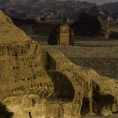 Tombeaux rupestres nabatéens de l'ancienne Hégra, région d'Al Ula © Yann Arthus-Bertrand