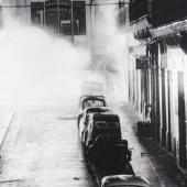 Alger, Bab-el-Oued Explosion d'une bombe de l'OAS 01/01/1962. D.R.