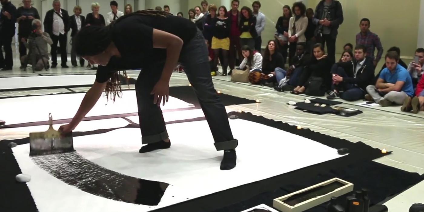Performance de Lassaâd Metoui au musée de l'Institut du monde arabe, Nuit Blanche 2014