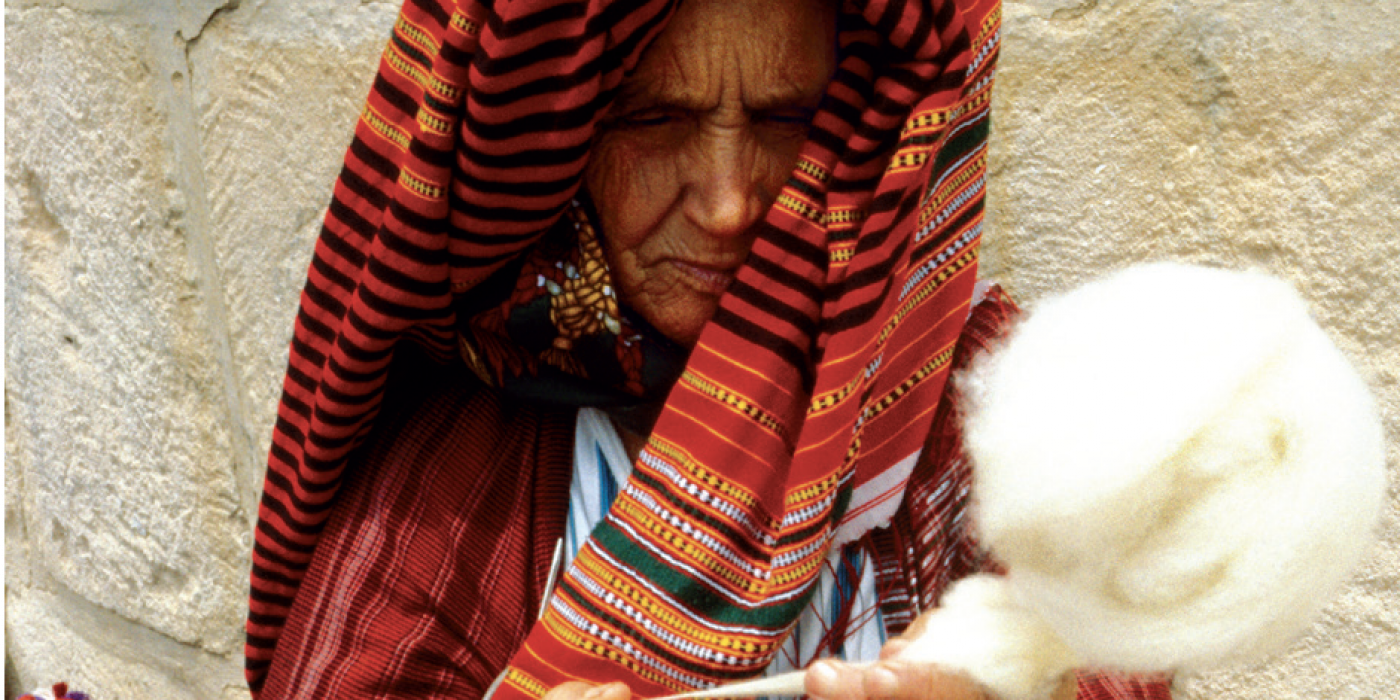 La fileuse, photo de Ridha Zili (1943-2011). © Donation C & F Lemand / IMA